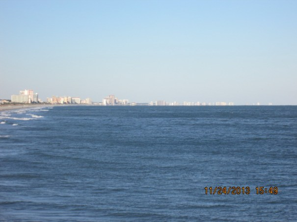 It is a developed shoreline for miles.