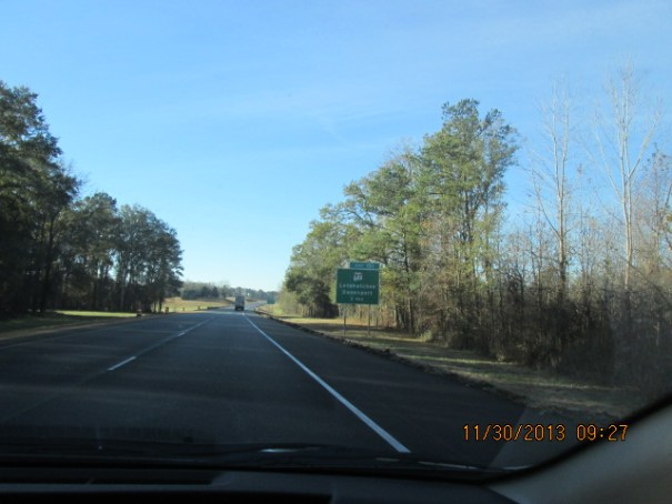I 65 South.  Newly paved, not too heavily traveled, a very pleasant drive.