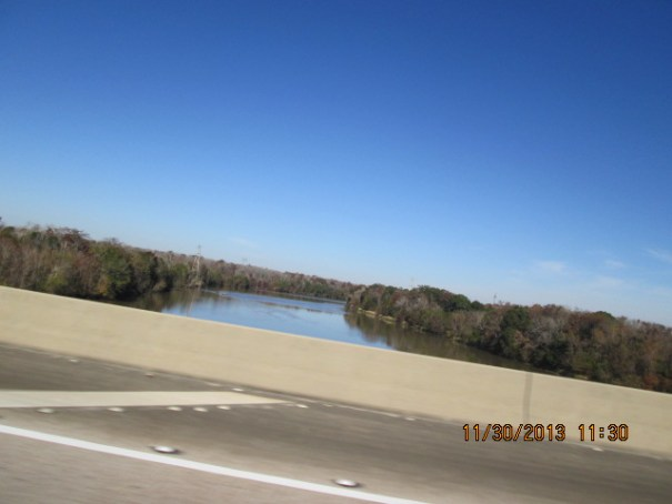 As we head south we get into lots of bridges and water.