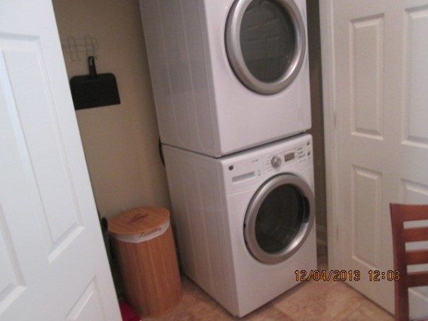 Big washers and dryers.