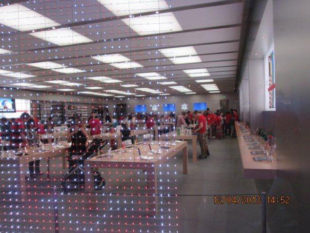 Apple store.  Nice people but not much progress.