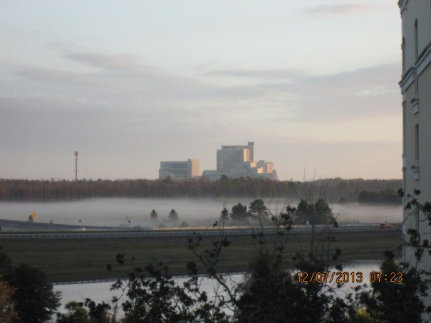 Early morning fog, a real problem in the Orlando area.