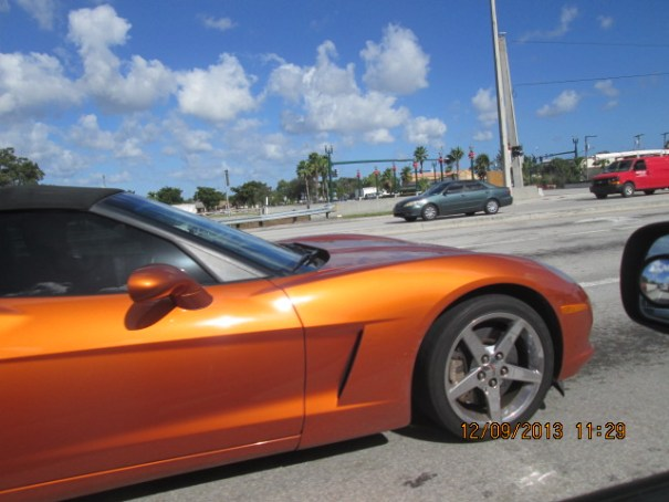 Edie liked the copper colored Vette.