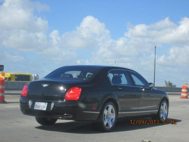 Nice Bentley rolling by.