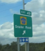 How can it be bad when your exit is Snake Road?
