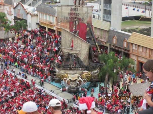 Pirate ship in the stadium.