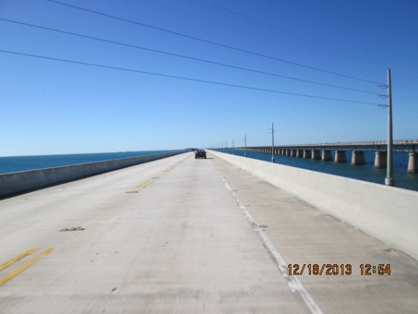 I think 30 years ago I drove on the skinny narrow bridge on the right.  I remember cars flying past just inches away.