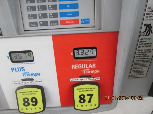 $3.33 a gallon