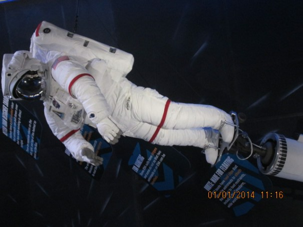The Canadian arm is used to tether and maneuver the astronauts as well as payloads.