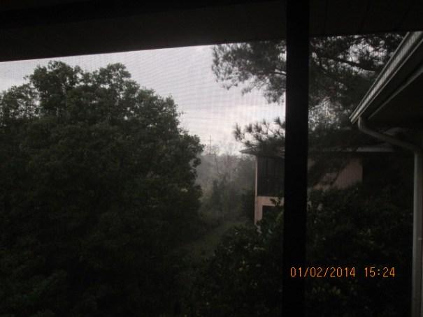 A hard Florida rain.