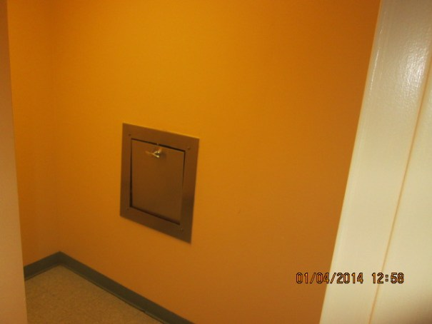 It is a dedicated room for the trash chute and you can smell the garbage that is below when in this room.