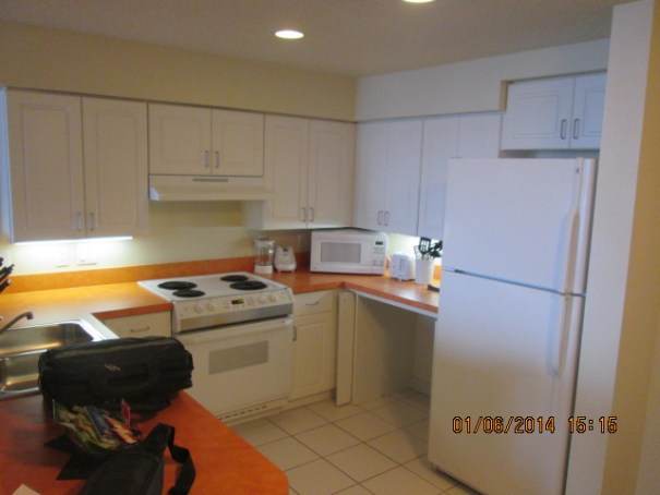 Kitchen, with lots of appliances and utensils and bowls and anything you might need.