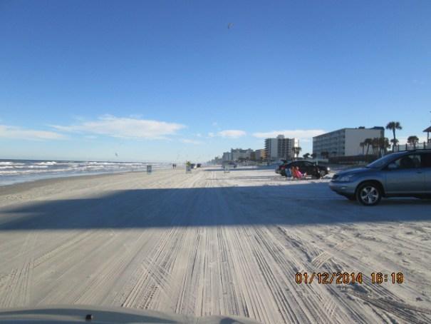 Driving on the beach at Daytona.  Feel like a moonshine runner!