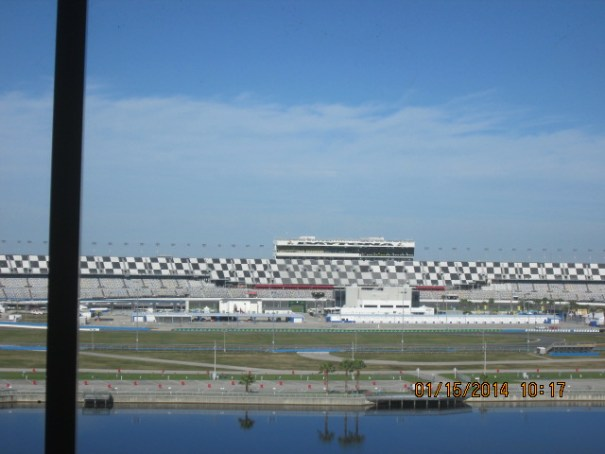 Looking across where the start and finish line is located.