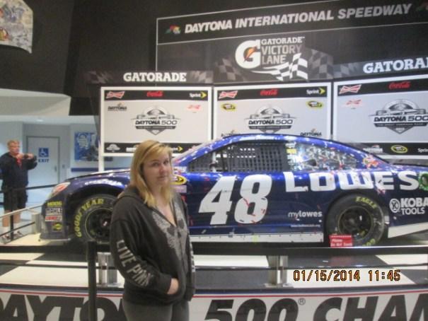 Lex with last year's winning car.