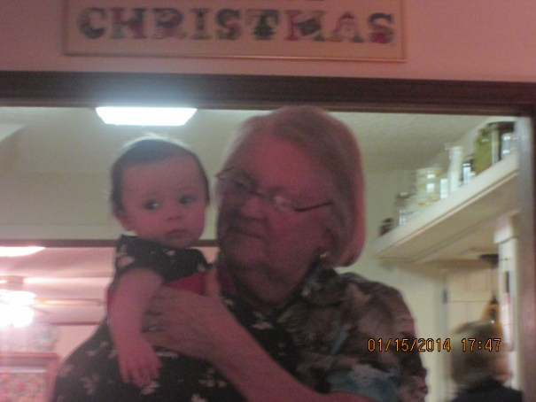 Cousin Kitty with her Great Granddaughter Alice.  It was so wonderful to visit with Kitty and meet Alice.