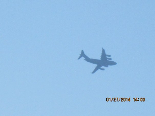 There was a lot of air traffic, military and commercial.