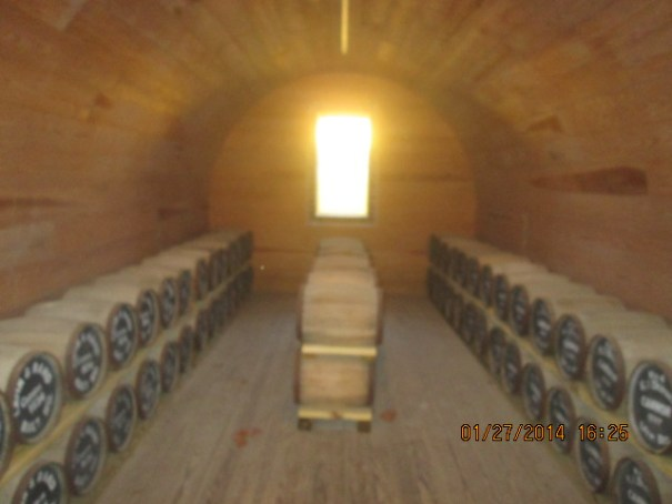 Powder magazine interior.