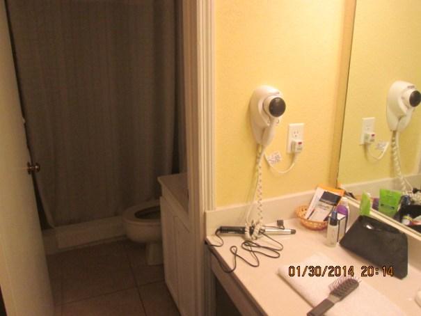 Bathroom and two vanities.