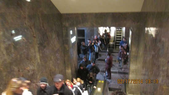 Inside the Empire State Building.