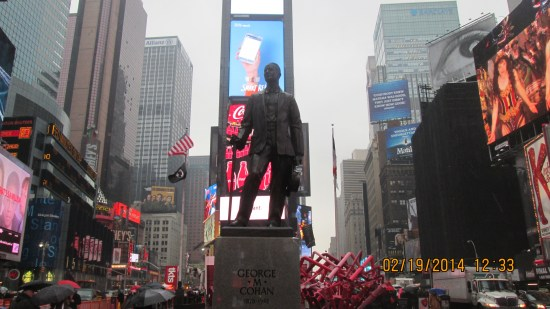 George M Cohan statue.