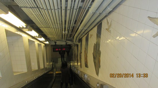 Down into the subway.