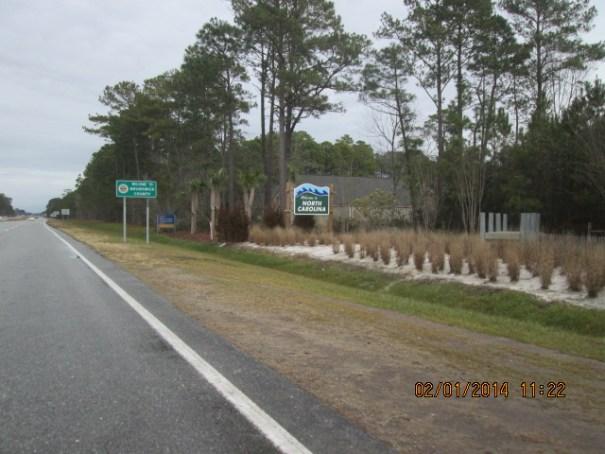 North Carolina State Sign.