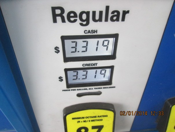 We gassed up and missed the 2.99 a gallon.