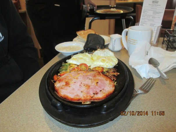 Lex had a build your own skillet.