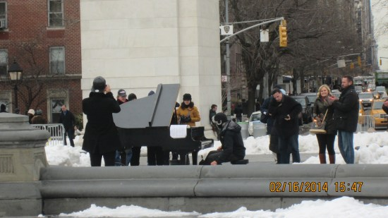 He was playing Rachmaninoff, really well, without gloves!