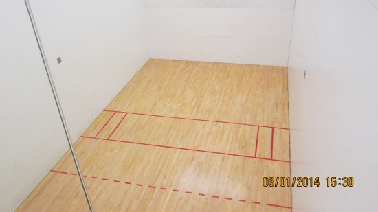 Racquetball courts.