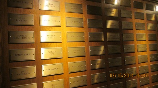 Members of the Grand Ol' Opry get a brass plaque.