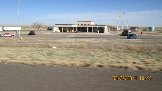 New Mexico welcome center.