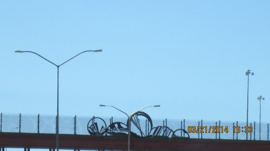 Lots of iron work on the overpasses.