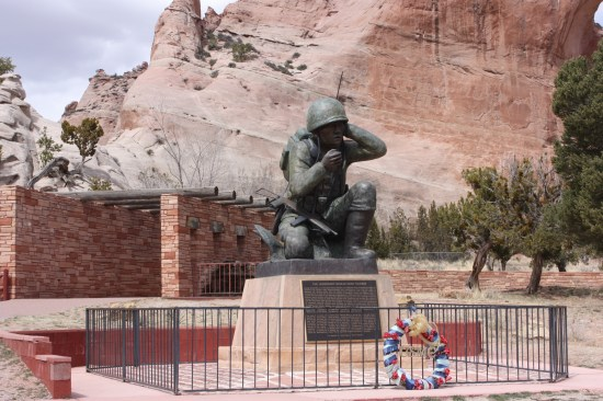 Tribute to the USMC Navajo Code Talkers from WWII.  There were over 400 of them.