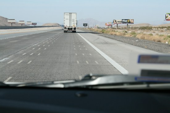 We were doing 78 and almost getting ran over.  I don't like the slow lane because the trucks beat it up so bad and leave it rough.  They have done something here, it is excellent and smooth.  I think they have figured out how to stop the tandem axles from destroying the road.