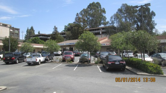 Kind of a strip mall in Walnut Creek, one of the few places that had open parking spaces.