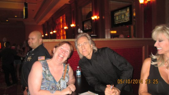 "He signed her CD, ""To Edie with love and thanks, Gary Puckett"""