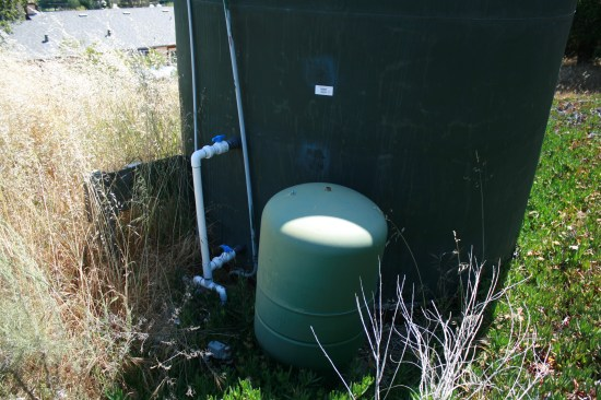 Our 4,999 gallon water tank.  Any bigger and you need a permit.