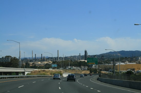 Refineries in Martinez.