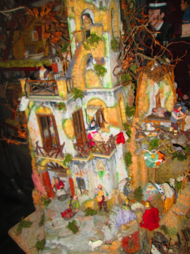Many different miniatures on the Nativity street.