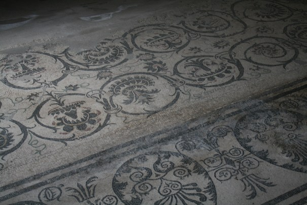 Buried 1,936 years ago under a pyroclastic flow, nice mosaic tile floor.