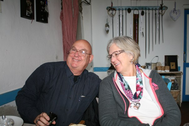 Dennis and Helga, wonderful travelers.  Great fun to hang out with and go with to explore foreign lands.