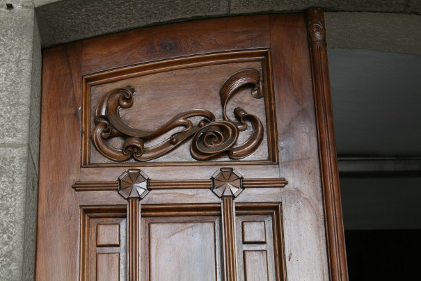I loved the craftsmanship on this door.