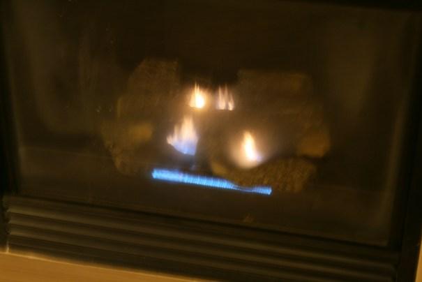 Very welcome fireplace.