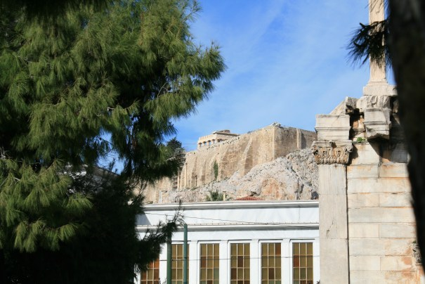 The Acropolis looms over the city,