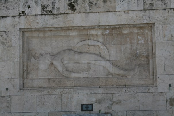 Relief of a fallen soldier