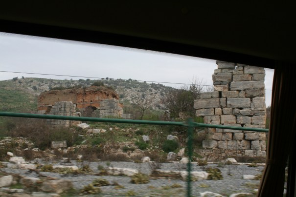 Ruins start to show up as we head to Ephesus.
