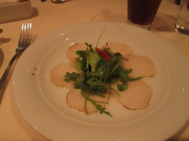 Edie had a swordfish appetizer, so different than Phil's near our home.