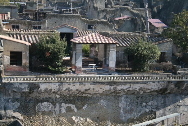 We couldn't get to this part of Herculaneum, looked nice.